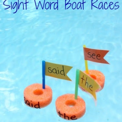 Pool Noodle Sight Word Boat Races