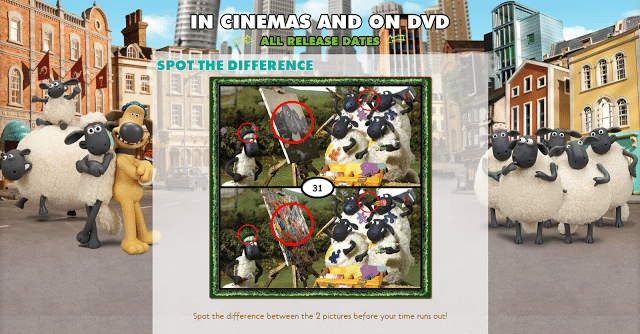 Shaun the Sheep Spot the Difference Game Screenshot