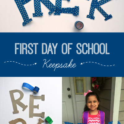 How to Make Your Own First Day of School Sign