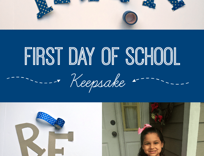 DIY First Day of School Sign with Cardboard and Washi Tape