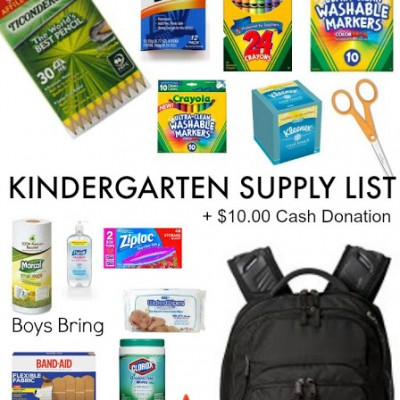 How Does Your Child's Kindergarten Supply List Compare?