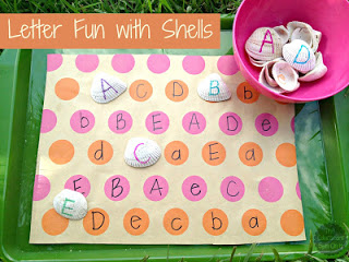 http://www.theeducatorsspinonit.com/2013/08/alphabet-fun-with-seashells-busy-bag.html