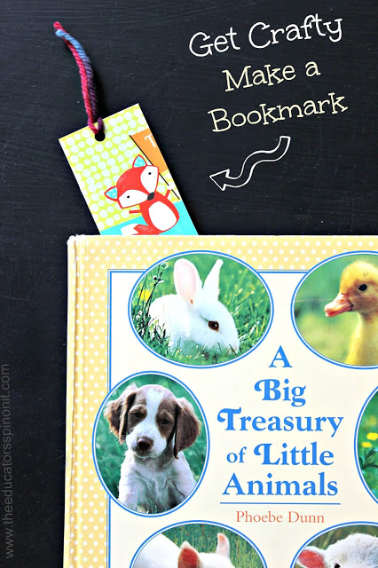 Get Crafty - make a bookmark. Eco friendly craft for kids using old cards!