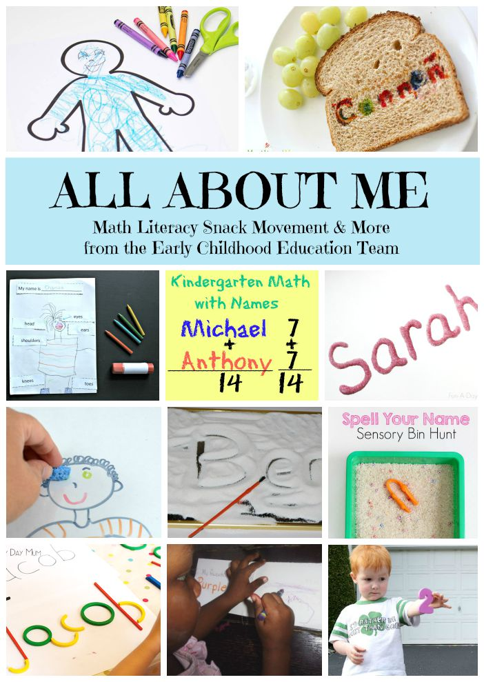 All about me kindergarten