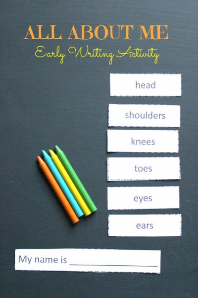 All About Me Writing Activity for Young Children