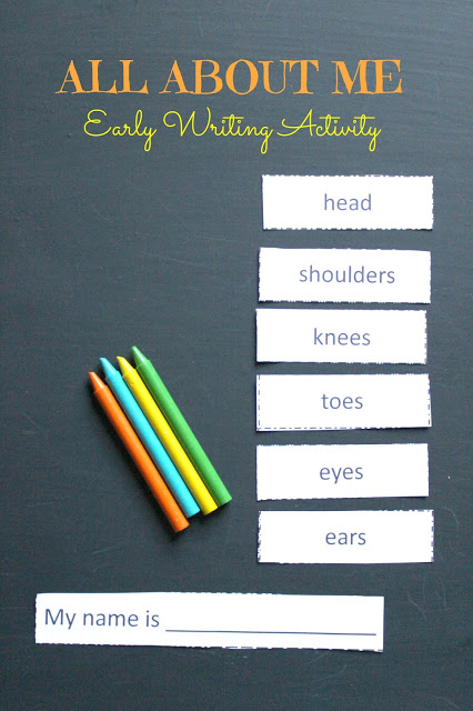 All About Me Writing Activity for Young Children: FREE printable for parents and teachers