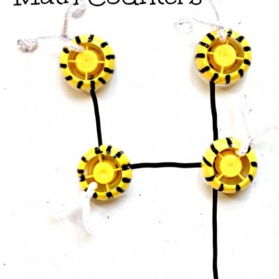 ECO Friendly Math Games | DIY Bee Math Counters