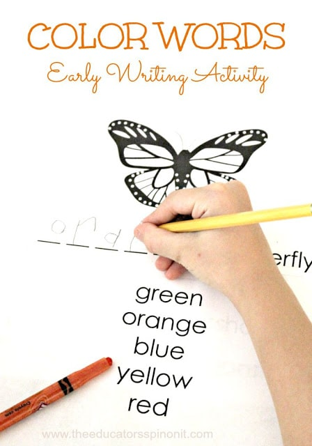 This DIY color insect book is the perfect writing activity to use in my classroom this year!