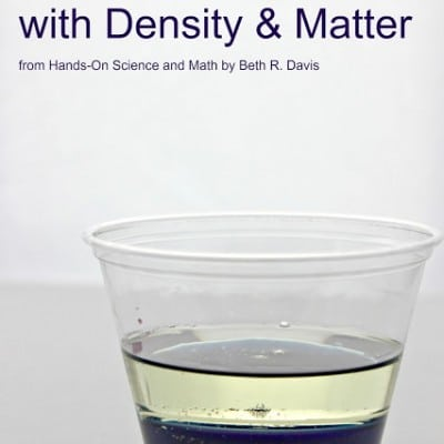 Hands-On Science and Math Book Review:  Density Science Experiment