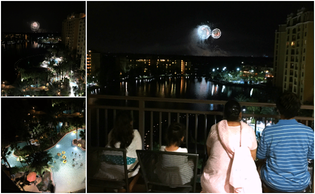 Disney firework to view from balcony at wyndham bonnet creek resort