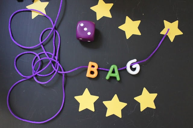 Roll a star, make a word game for kids