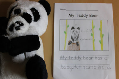 Teddy Bear Writing Activity for Kids
