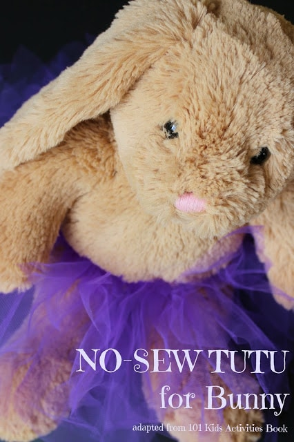 Try this No-sew Tutu for bunny and MORE Kids Activities for grade schoolers