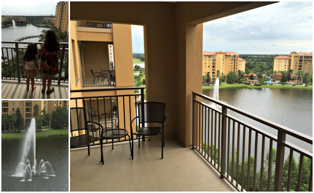 Balcony view at Wyndham Bonnet Creek Resort