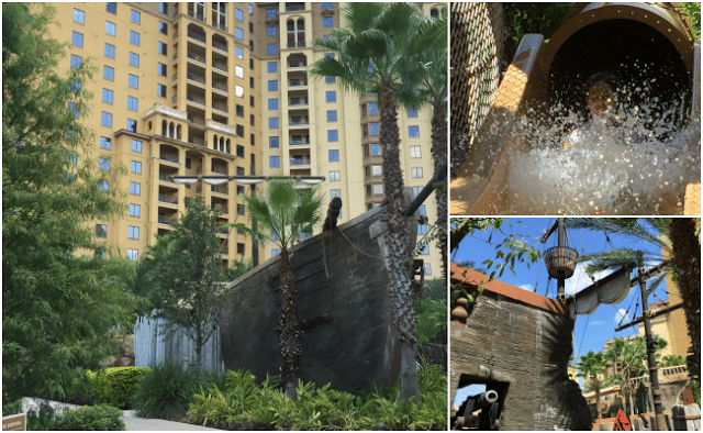 Pirate themed pool and slide at bonnet creek resort