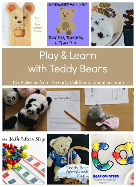 Play and Learn with Teddy Bears 10+ Activities for preschool to first grade