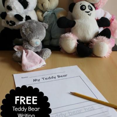 Teddy Bear Writing Activity for Kids