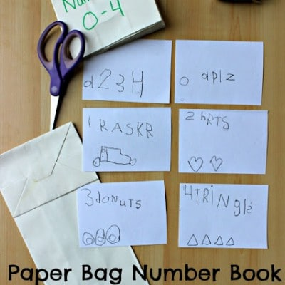 Paper Bag Number Book, An Early Writing Activity