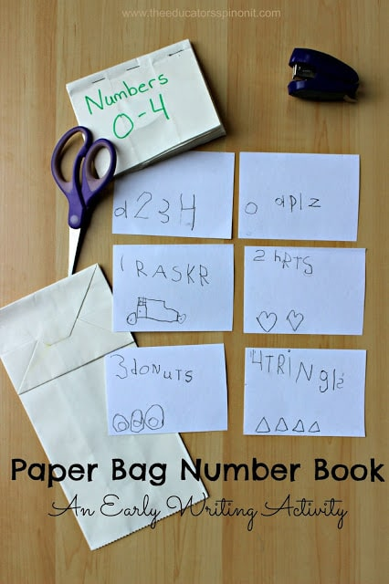 Sarah - we need to make this Paper Bag Number Book with our preschool class, it would be the perfect writing activity for our number unit
