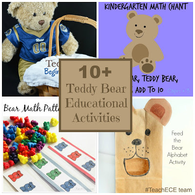 Teddy Bear Learning Activities from the Early Childhood Education Team.