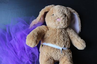 making tutu for stuff bunny