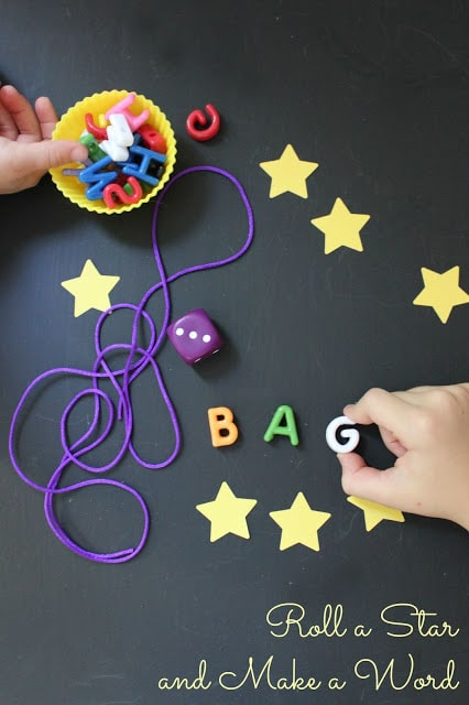 Roll a Star and Make a Word Game for grade schoolers