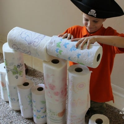 Building Forts with Sparkle® Paper Towels