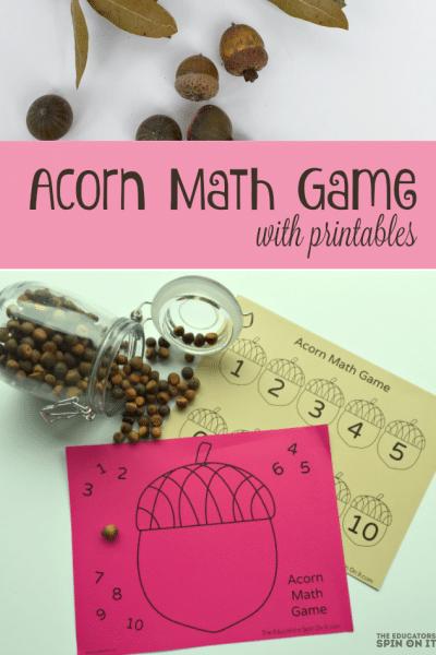 Acorn Math Game for Kids