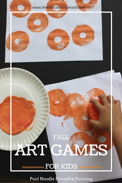 Fall Games for Kids: Roll and Stamp Pumpkin Patch, a little math, a little creativity and a whole lot of fun!