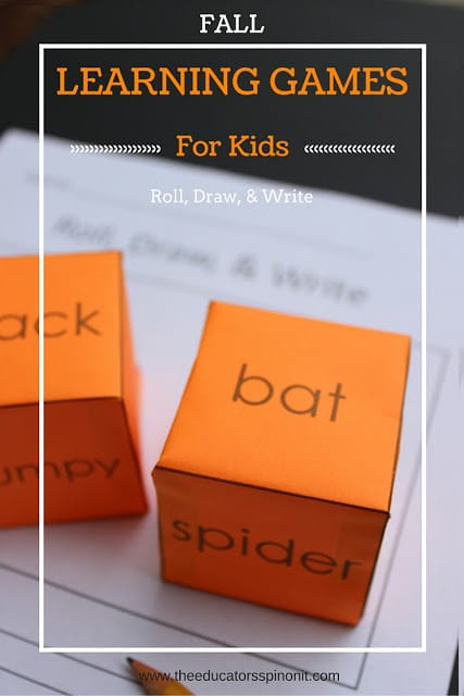 Fall Learning Games for Kids: Roll, Draw, and Write