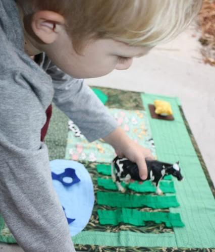 DIY Farm Pretend Play Mat for Kids
