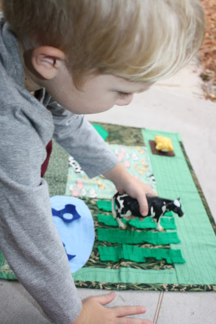 DIY Farm Pretend Play Mat for Kids
