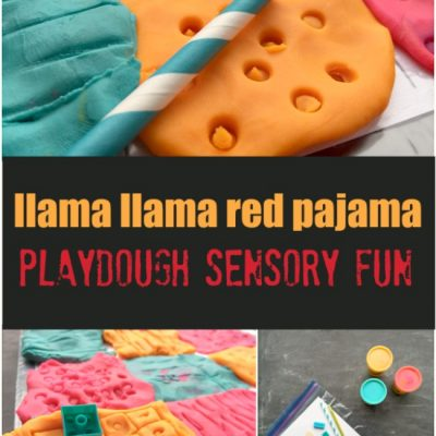 Llama Llama Red Pajama Playdough Sensory Play