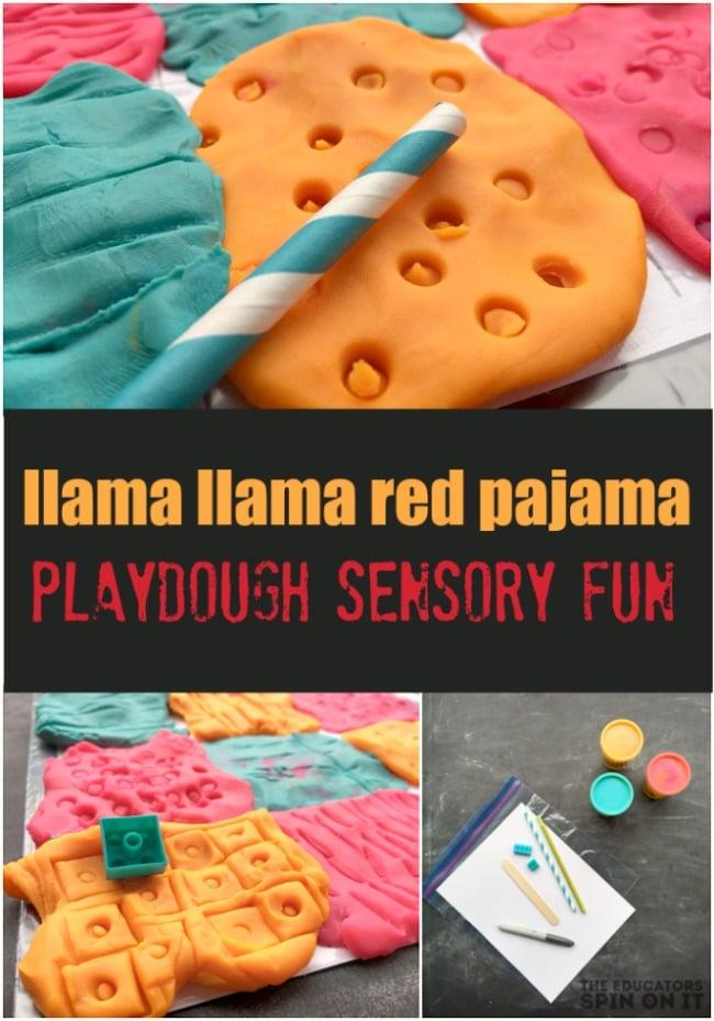 Llama Llama Red Pajama Playdough Sensory Fun