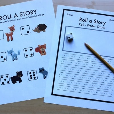Roll a Story Woodland Animals: An Early Writing Activity