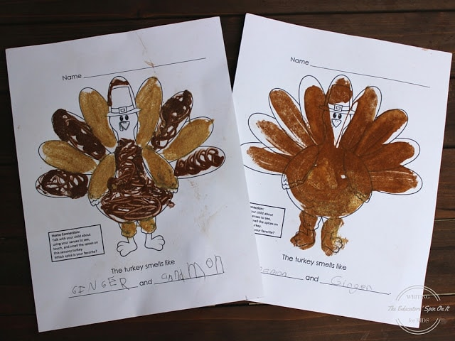 Sensory Turkey and Thanksgiving Writing prompt