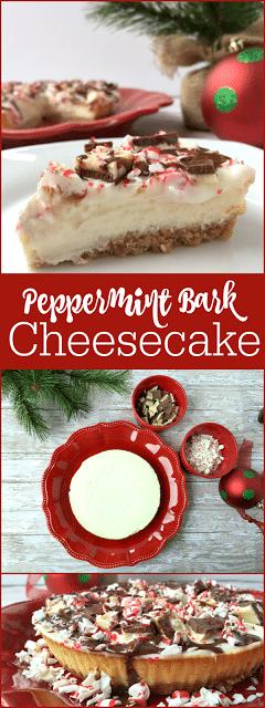 Chocolate Peppermint Bark Cheesecake Recipe