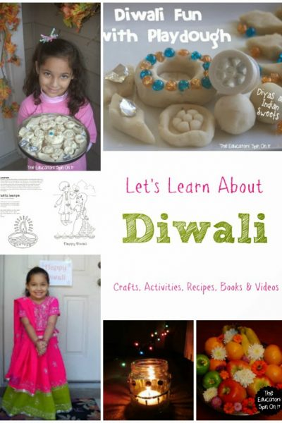 Explore Diwali with Kids through Diwali Activities, Crafts, Books and Recipes at The Educators' Spin On it