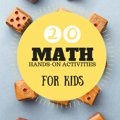 20+ Hands on Math Activities for kids