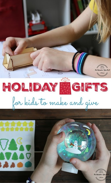 Gifts for kids to make and give this holiday season. Winter crafting. Winter STEM. LED and Circuit Projects for kids