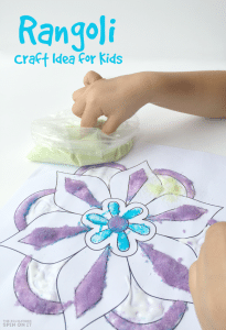 How To Make A Flower Rangoli With Kids For Diwali