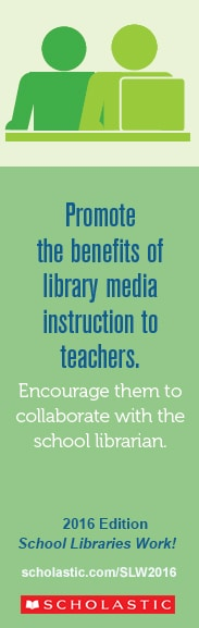 Promote the benefits of library media instruction to teachers: Encourage them to collaborate with the school librarian.