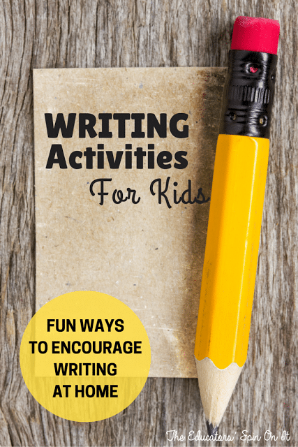 Writing Resources for Kids! Fun Ways to Encourage Writing at Home.