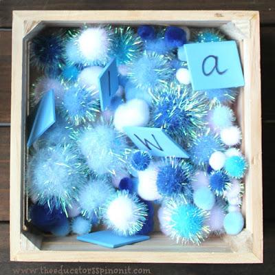 Winter Theme Alphabet Sensory Bin