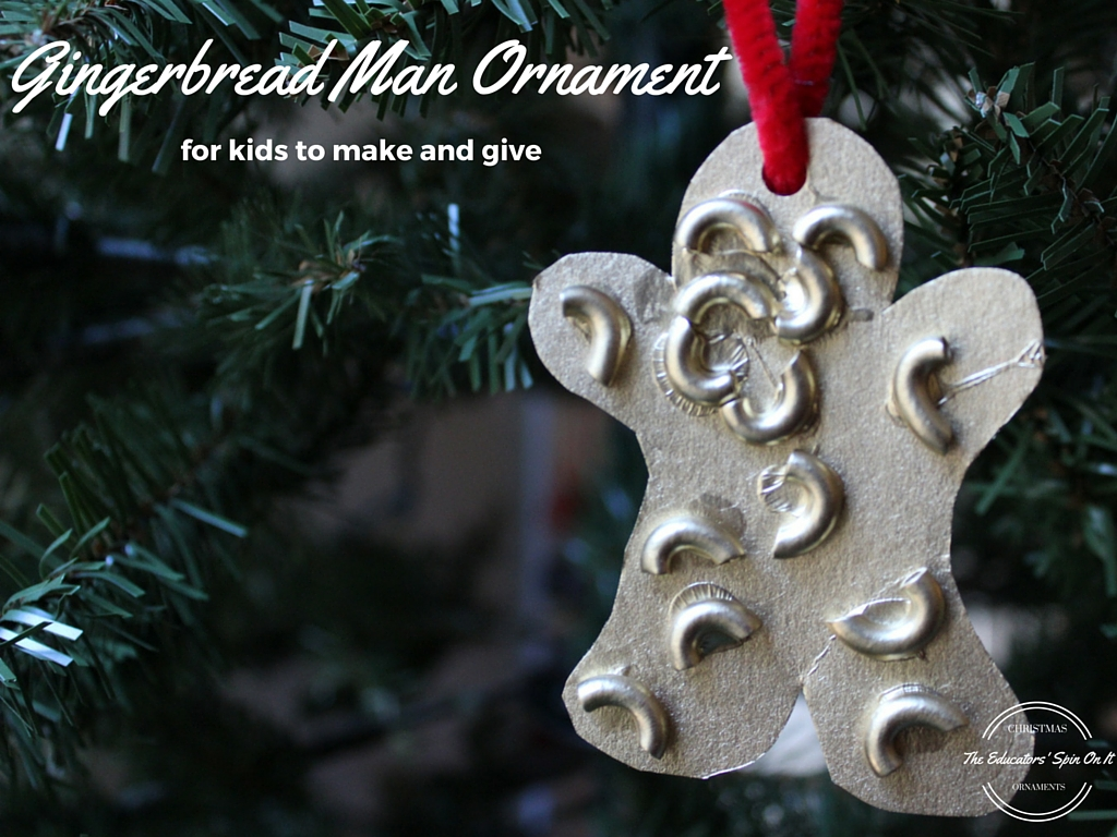 Easy Gingerbread Man Ornament To Make With Noodles Great For Toddler,  Preschool, And