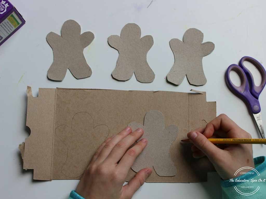 Cardboard Roll Gingerbread Man Craft   Our Kid Things   768x1024