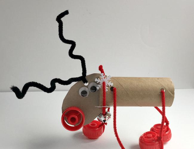 Flying Reindeer STEM Challenge for Kids