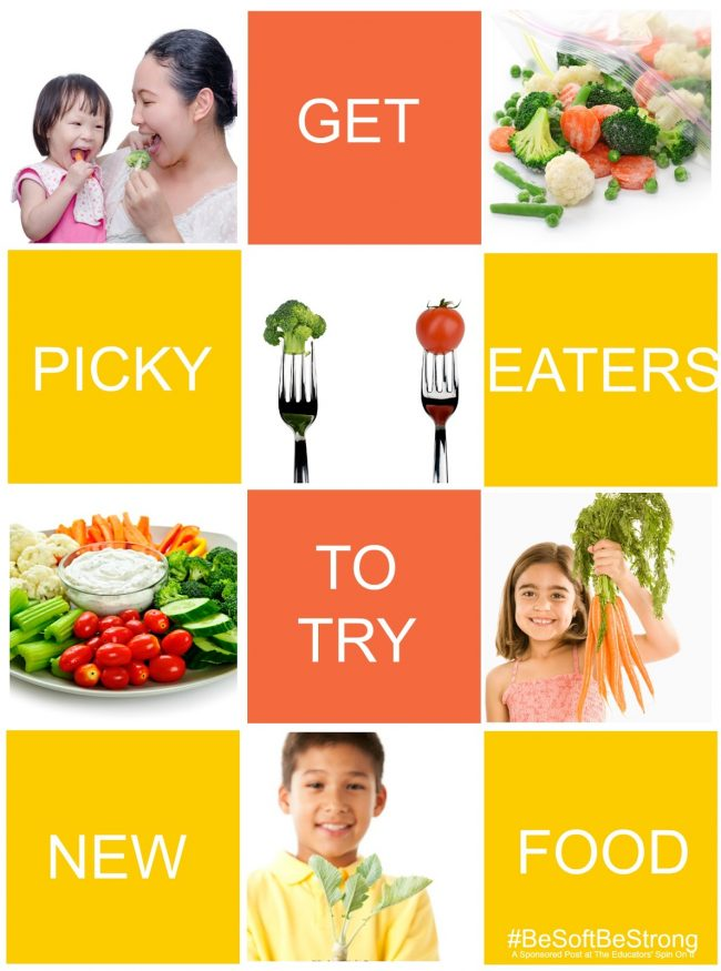 Parenting tips to get picky eaters to try new foods. 10 Parent Tested tips for healthy eating, get those veggies in!