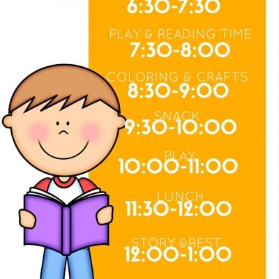 Preschool Daily Schedules for at Home Play and Learning