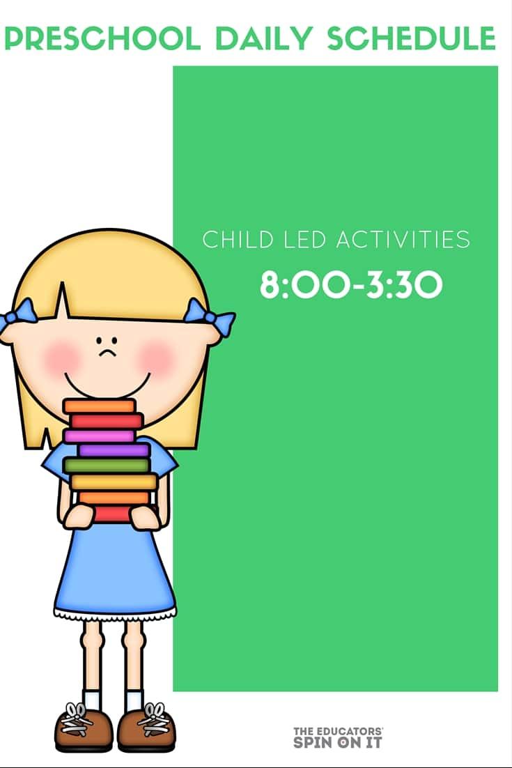 One families Preschool Daily Schedule